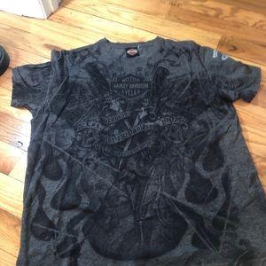 Lack/grey Harley Davidson T-shirt